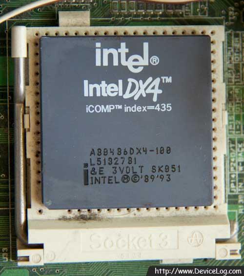 소켓3에 끼운 486DX4-100