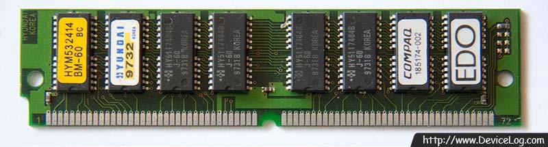 Hyundai 72pin 16MB DRAM SIMM HY5117404B (Frontside)