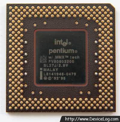 인텔 펜티엄 MMX 200Mhz FV80503200 뒤쪽