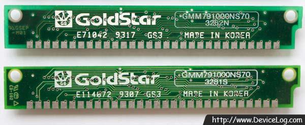 Goldstar 30pin 1MB DRAM SIMM (GM71C4400A+GMC71C1000) (뒷면)