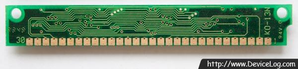 Goldstar 30핀 1MB DRAM SIMM (GM71C4400B + GMC71C1000B) (backside)