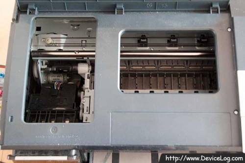 the inside of HP K550
