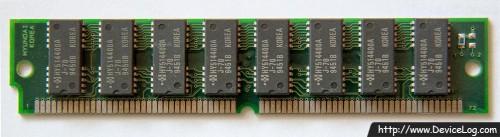 Hyundai 72pin 4MB EDO DRAM HYM532100AM-70 70ns Fast Page non-Parity SIMM