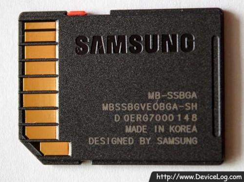 Samsung SDHC Essential 32GB Class 10 Backside