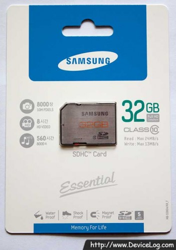 Samsung SDHC Essential 32GB Class 10 Package