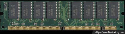 Samsung SDRAM 32MB PC66 KMM366S403BTN-G0 underside
