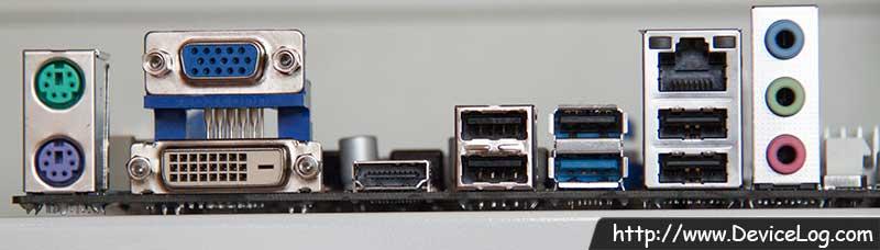 Mainboard - Asrock 880GMH-LE/USB3 Rearpanel