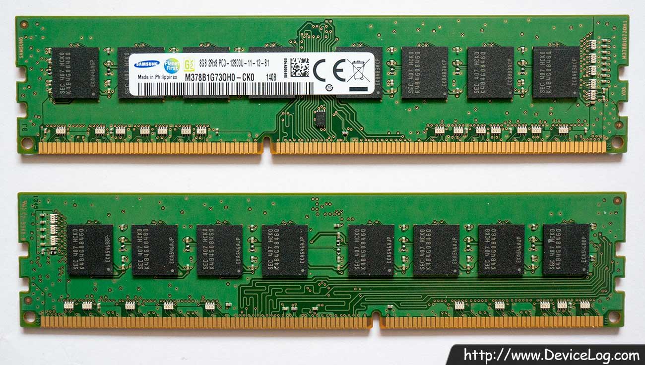 Samsung 8GB DDR3 SDRAM 2R×8 PC3-12800U-11-12-B1 M378B1G73QH0-CK0 1408