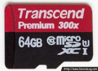 Transcend micro SDXC UHS-I Premium 300X 64GB - front