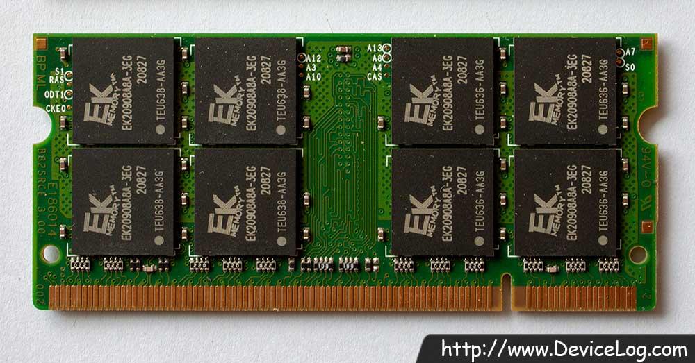 EK Memory 2GB DDR2 SO-DIMM PC2-5300 CL5 EKM256S74BP8-E6