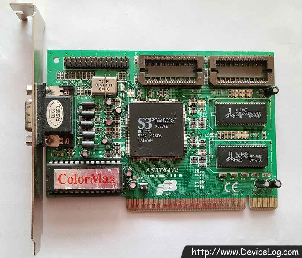 Unitech AS3T64V2 - S3 Trio64V2/DX 86C775
